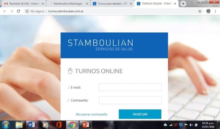 turnos Stamboulian teléfono